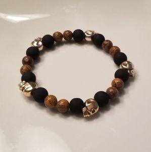 🎉🎉 HP!! 💀Men's brown & black skull bracelet